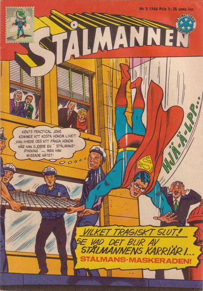 Cover for Stålmannen (Centerförlaget, 1949 series) #3/1966
