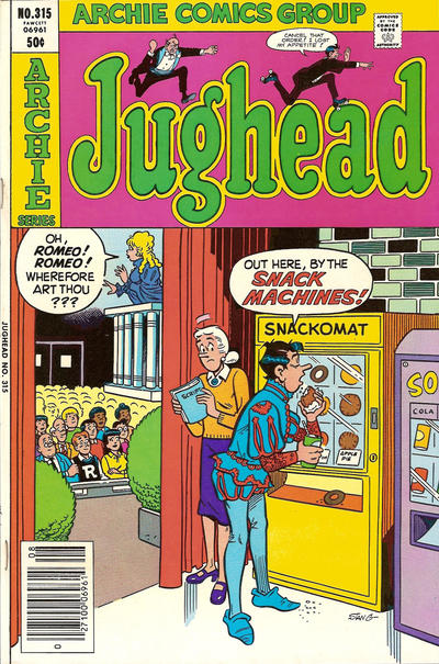 Cover for Jughead (Archie, 1965 series) #315