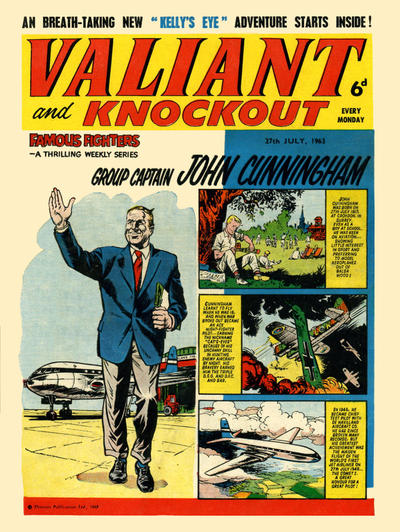 Cover for Valiant and Knockout (IPC, 1963 series) #27 July 1963