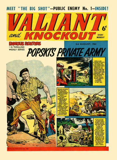 Cover for Valiant and Knockout (IPC, 1963 series) #3 August 1963