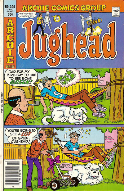 Cover for Jughead (Archie, 1965 series) #306