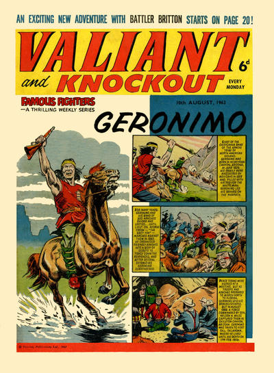 Cover for Valiant and Knockout (IPC, 1963 series) #10 August 1963