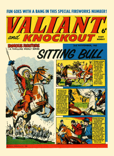 Cover for Valiant and Knockout (IPC, 1963 series) #2 November 1963