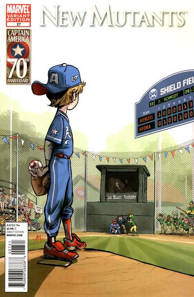 Cover for New Mutants (Marvel, 2009 series) #27 [I am Captain America variant]