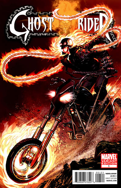 Cover for Ghost Rider (Marvel, 2011 series) #1 [Neal Adams Incentive Variant Cover ]