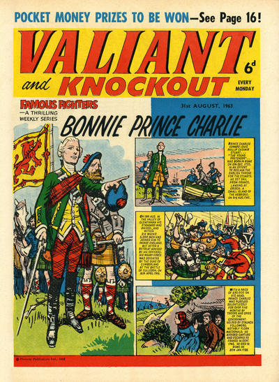 Cover for Valiant and Knockout (IPC, 1963 series) #31 August 1963