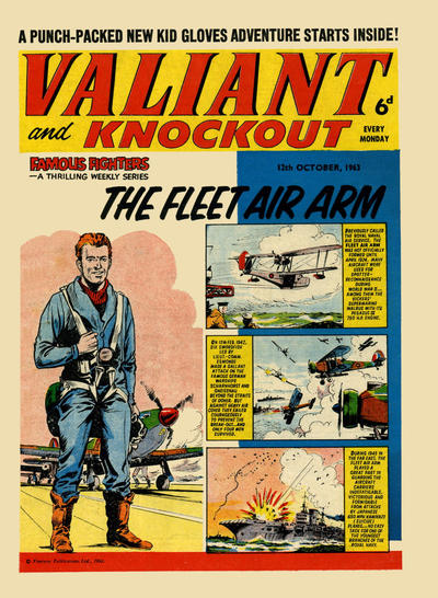 Cover for Valiant and Knockout (IPC, 1963 series) #12 October 1963