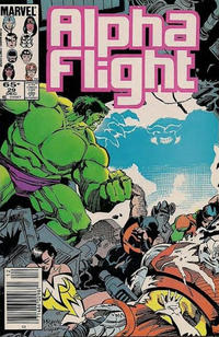 Cover Thumbnail for Alpha Flight (Marvel, 1983 series) #29 [Newsstand Edition]