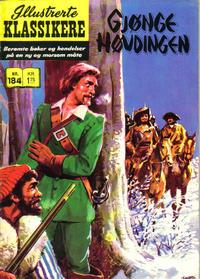 Cover Thumbnail for Illustrerte Klassikere [Classics Illustrated] (Illustrerte Klassikere / Williams Forlag, 1957 series) #184 - Gjøngehøvdingen