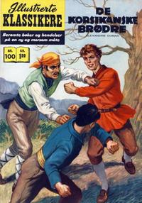 Cover Thumbnail for Illustrerte Klassikere [Classics Illustrated] (Illustrerte Klassikere / Williams Forlag, 1957 series) #100 - De korsikanske brødre
