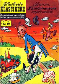Cover Thumbnail for Illustrerte Klassikere [Classics Illustrated] (Illustrerte Klassikere / Williams Forlag, 1957 series) #134 - Baron Münchhausens opplevelser