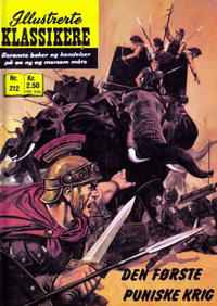 Cover Thumbnail for Illustrerte Klassikere [Classics Illustrated] (Illustrerte Klassikere / Williams Forlag, 1957 series) #212 - Den første puniske krig