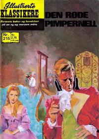 Cover Thumbnail for Illustrerte Klassikere [Classics Illustrated] (Illustrerte Klassikere / Williams Forlag, 1957 series) #215 - Den røde pimpernell
