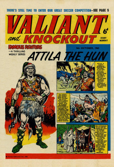 Cover for Valiant and Knockout (IPC, 1963 series) #5 October 1963