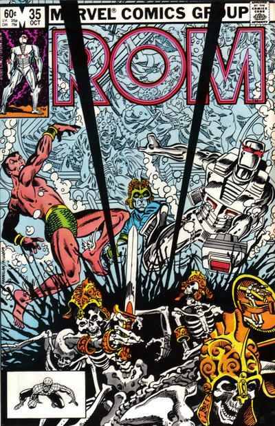 Cover for ROM (Marvel, 1979 series) #35 [Newsstand Edition]