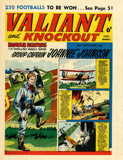 Cover for Valiant and Knockout (IPC, 1963 series) #28 September 1963