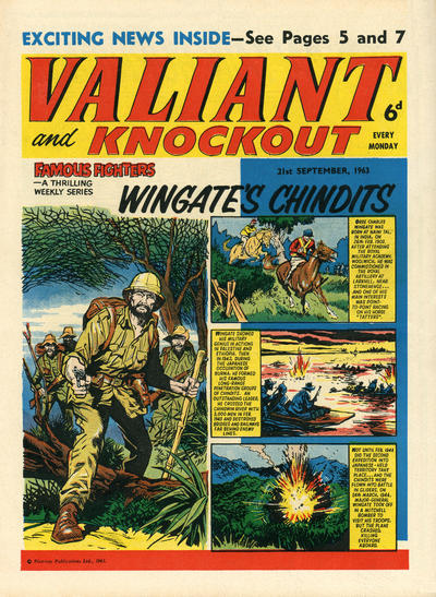 Cover for Valiant and Knockout (IPC, 1963 series) #21 September 1963