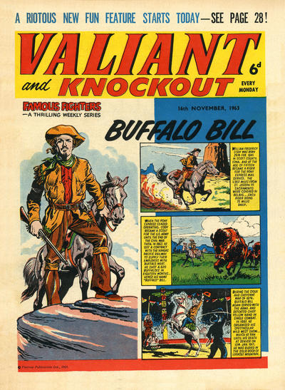 Cover for Valiant and Knockout (IPC, 1963 series) #16 November 1963