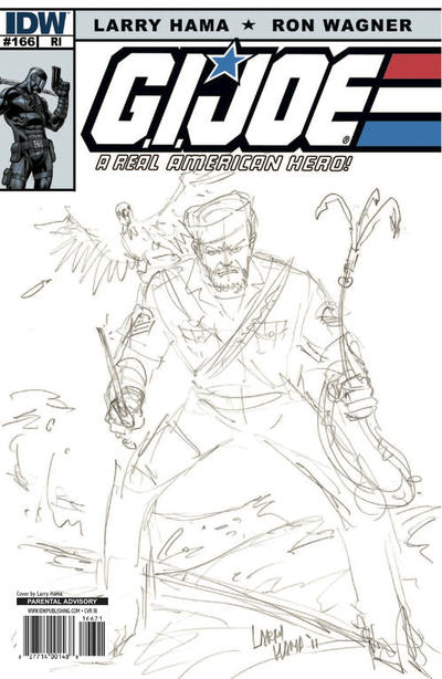 Cover for G.I. Joe: A Real American Hero (IDW, 2010 series) #166 [Cover B]