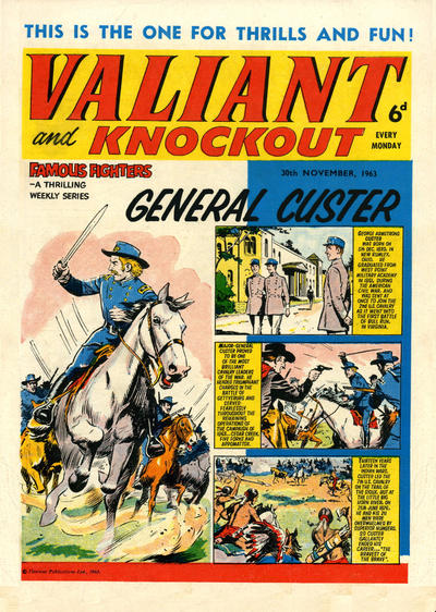 Cover for Valiant and Knockout (IPC, 1963 series) #30 November 1963