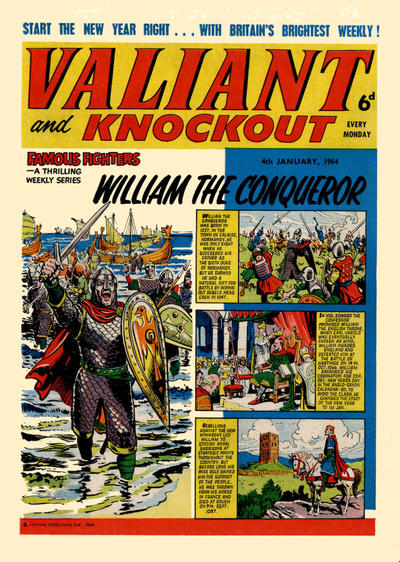 Cover for Valiant and Knockout (IPC, 1963 series) #4 January 1964