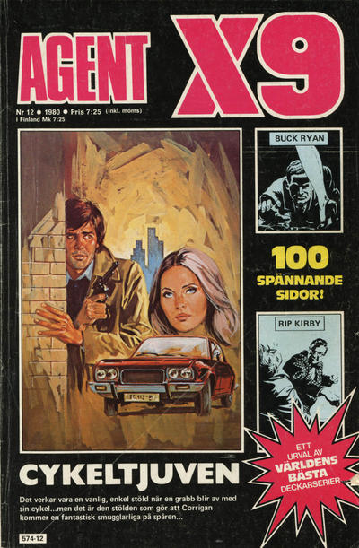 Cover for Agent X9 (Semic, 1971 series) #12/1980
