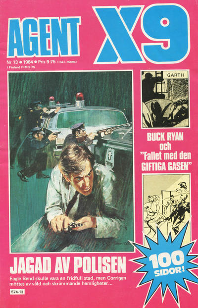 Cover for Agent X9 (Semic, 1971 series) #13/1984