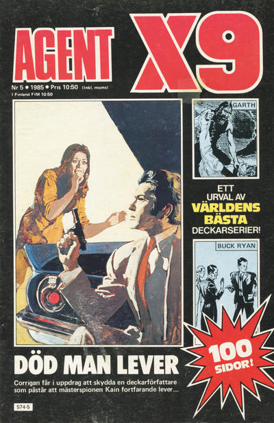 Cover for Agent X9 (Semic, 1971 series) #5/1985