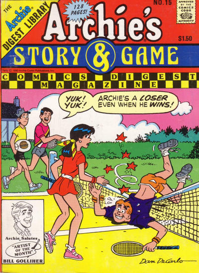 Cover for Archie's Story & Game Digest Magazine (Archie, 1986 series) #15