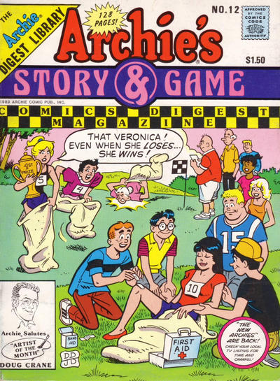 Cover for Archie's Story & Game Digest Magazine (Archie, 1986 series) #12 [Canadian]