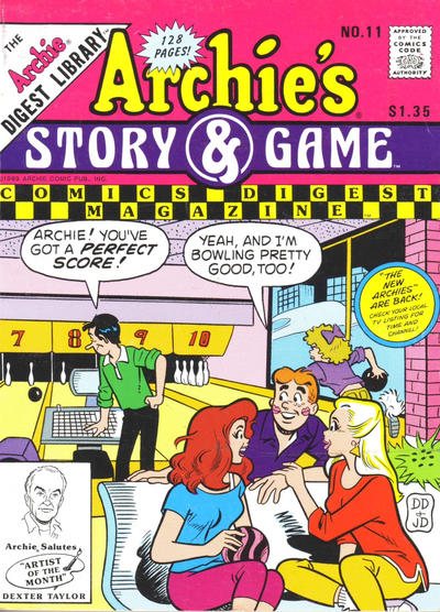 Cover for Archie's Story & Game Digest Magazine (Archie, 1986 series) #11 [Direct]