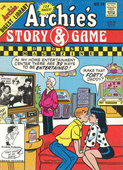 Cover for Archie's Story & Game Digest Magazine (Archie, 1986 series) #16 [Newsstand]