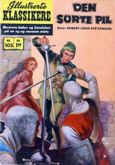 Cover for Illustrerte Klassikere [Classics Illustrated] (Illustrerte Klassikere / Williams Forlag, 1957 series) #105 - Den sorte pil
