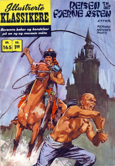 Cover for Illustrerte Klassikere [Classics Illustrated] (Illustrerte Klassikere / Williams Forlag, 1957 series) #165 - Reisen til det fjerne østen