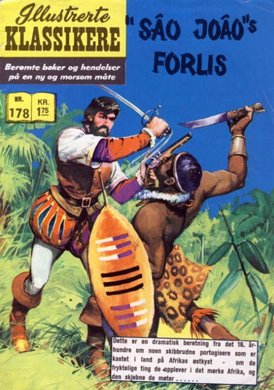 "Cover for Illustrerte Klassikere [Classics Illustrated] (Illustrerte Klassikere / Williams Forlag, 1957 series) #178 - ""Sâo Joâo""s forlis"