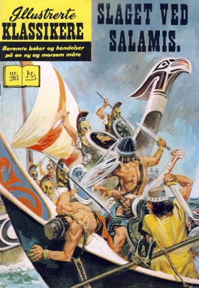 Cover for Illustrerte Klassikere [Classics Illustrated] (Illustrerte Klassikere / Williams Forlag, 1957 series) #203 - Slaget ved Salamis