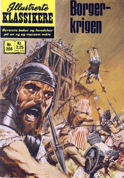 Cover for Illustrerte Klassikere [Classics Illustrated] (Illustrerte Klassikere / Williams Forlag, 1957 series) #205 - Borgerkrigen