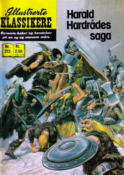 Cover for Illustrerte Klassikere [Classics Illustrated] (Illustrerte Klassikere / Williams Forlag, 1957 series) #213 - Harald Hardrådes saga