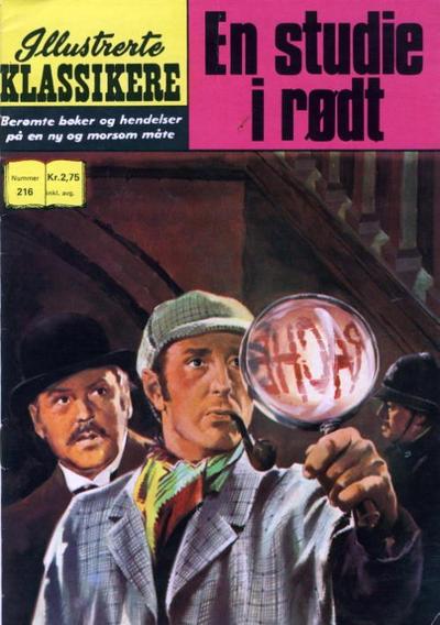 Cover for Illustrerte Klassikere [Classics Illustrated] (Illustrerte Klassikere / Williams Forlag, 1957 series) #216 - En studie i rødt