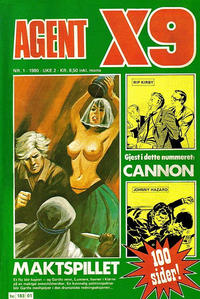 Cover Thumbnail for Agent X9 (Semic, 1976 series) #1/1980