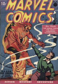 Cover Thumbnail for Marvel Comics (Marvel, 1939 series) #1 [2nd printing]