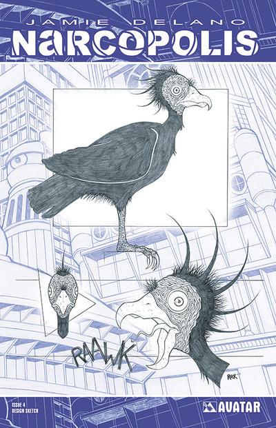 Cover for Jamie Delano's Narcopolis (Avatar Press, 2008 series) #4 [Regular Cover]