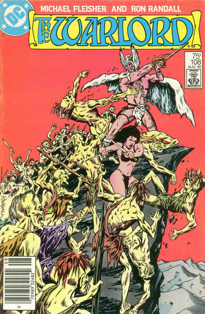 Cover for Warlord (DC, 1976 series) #108 [Newsstand without Text Edition]