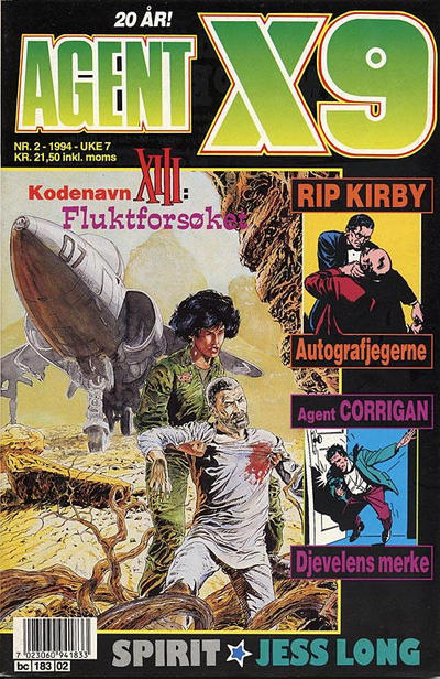 Cover for Agent X9 (Semic, 1976 series) #2/1994