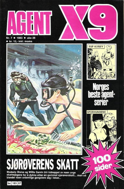 Cover for Agent X9 (Semic, 1976 series) #7/1983