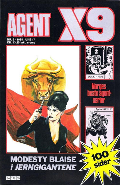 Cover for Agent X9 (Semic, 1976 series) #5/1985