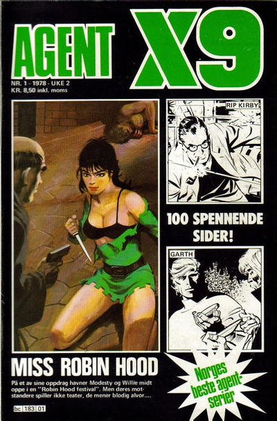 Cover for Agent X9 (Semic, 1976 series) #1/1978