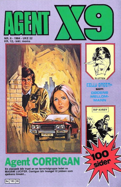 Cover for Agent X9 (Semic, 1976 series) #6/1984