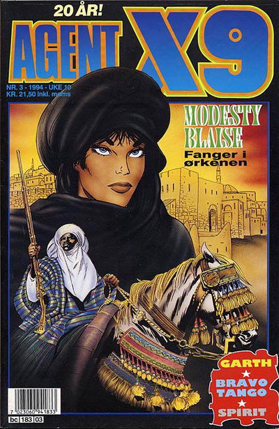 Cover for Agent X9 (Semic, 1976 series) #3/1994