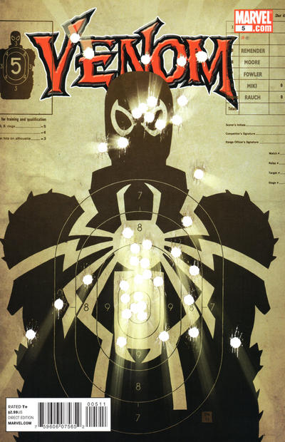 Cover for Venom (Marvel, 2011 series) #5 [Second Printing]